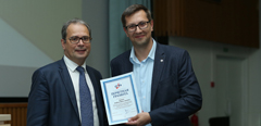 TsAGI scientists receive an honorary award at the Union of Aviation Industrialists