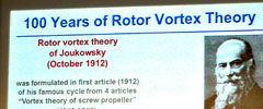 International community celebrates 100th anniversary of the rotor vortex theory of Professor Zhukovsky