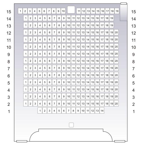 Схема зрительного зала Дома ученых ЦАГИ.