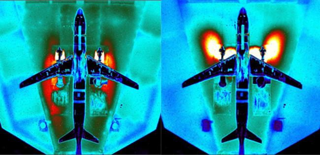 В ЦАГИ проведены стендовые испытания модели самолета МС-21-300 на режиме реверса тяги двигателя