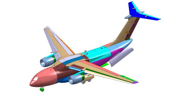 Спроектирована крупномасштабная модель Ил-276 с открывающемся люком в хвостовой части фюзеляжа