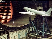 Aircraft IL-114 model in the subsonic wind tunnel T-101