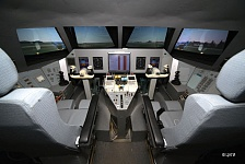 Pilot-training six-axis simulator complex PSPK-102, stand cabin