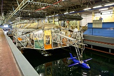 TsAGI seaplane tank. Investigation of thematic model of 15-seat regional amphibian aircraft